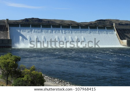 The Grand Coulee Hydroelectric Dam in Washington, U.S.A. - stock photo