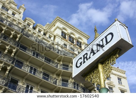 The Grand Hotel in Brighton built in 1864. - stock photo