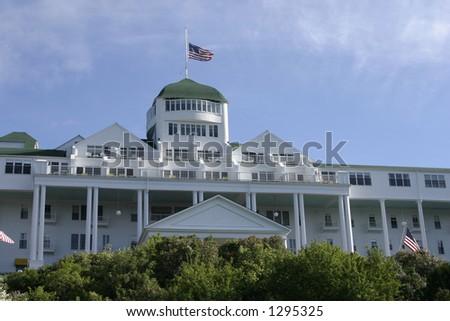 the grand hotel Mackinaw island - stock photo