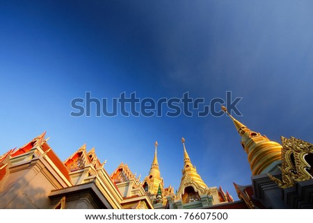 The Grand Palace In Southern Thailand - stock photo