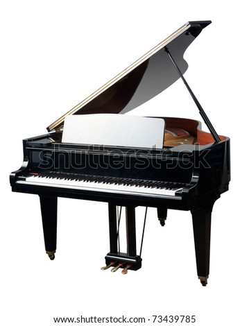 The grand Piano for playing in the orchestra bad - stock photo