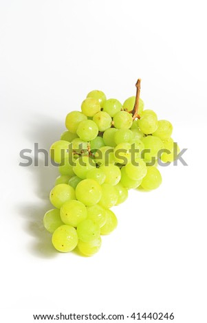 The grape isolated on white background - stock photo