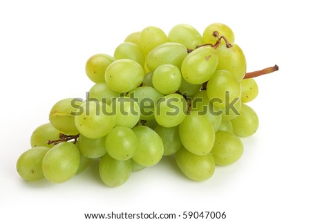 The grape isolated on white background