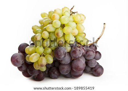 The grapes on a white background - stock photo