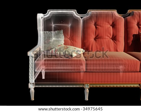 The graphic image of furniture