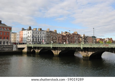 The Grattan Bridge over the River Liffey in Dublin, ireland