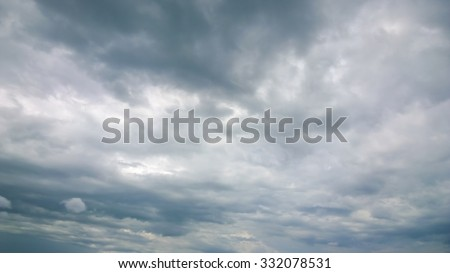 The gray cloud - stock photo