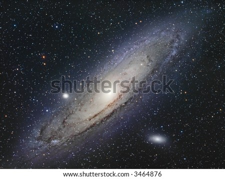 The Great Andromeda galaxy - stock photo