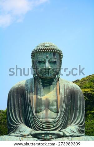 The Great Buddha, Kamakura, Japan - stock photo