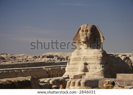 The great egyptian Sphinx of Giza, Egypt - stock photo