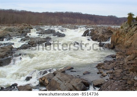 The Great Falls of the Potomac River, outside of Washington, D.C.