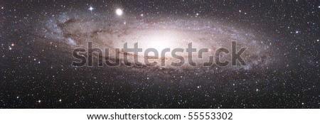 The great Galaxy in Andromeda - M31 - stock photo