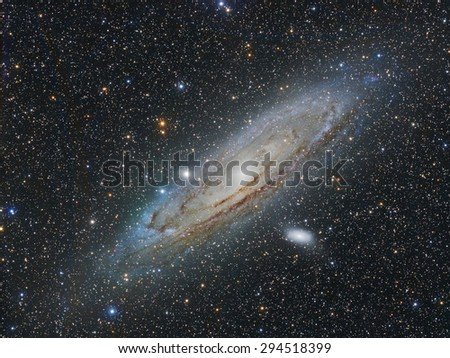 The Great Galaxy of Andromeda - stock photo
