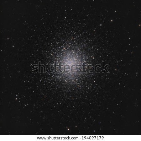 The Great Globular Cluster in Hercules - stock photo