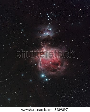 The Great Nebula in Orion, M42 - stock photo