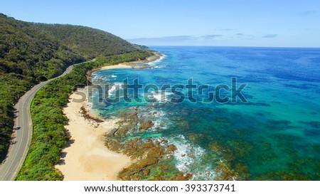 The Great Ocean Road coastline, Australia. - stock photo