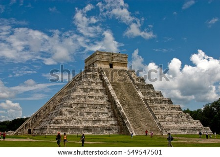 stock-photo-the-great-pyramid-at-chichen