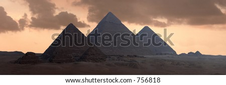 The Great Pyramids of Gizeh - stock photo