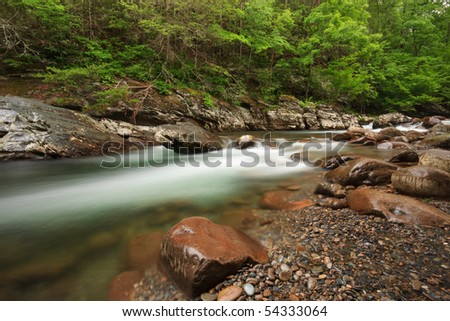 The great smoky mountains national park, little Pigeon  river - stock photo