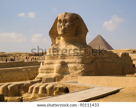 The Great Sphinx of Giza in Egypt - stock photo