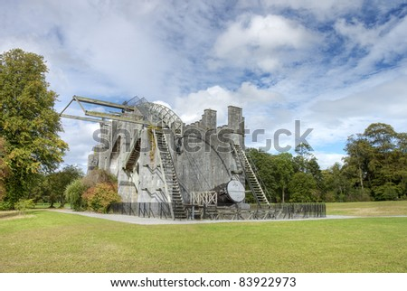 The great Telescope constructed in 1840 at Birr Castle in Ireland. - stock photo