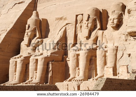 The Great Temple of Ramses II  (Abu simbel) - stock photo