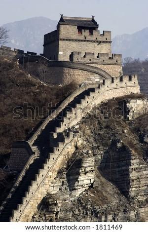 The great wall at China. - stock photo