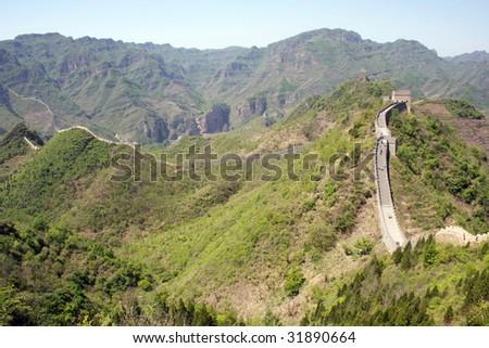 The Great Wall at Huanyaguan - stock photo