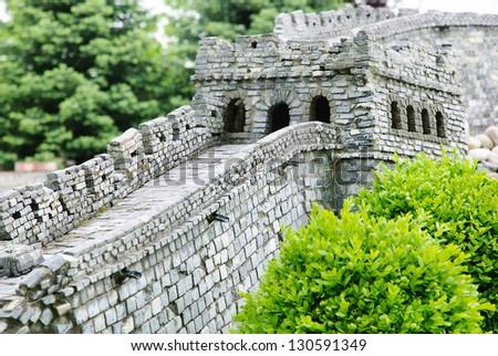 the Great Wall of China at Mutianyu (Beijing) - stock photo
