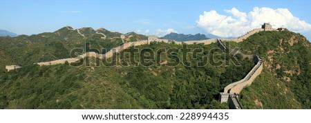 The Great Wall of China close to Jinshanling - stock photo