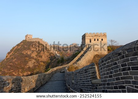 The Great Wall of China, it is very magnificent - stock photo