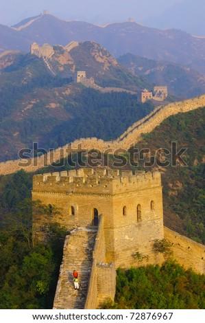The great Wall of China(Jinshanling) - stock photo