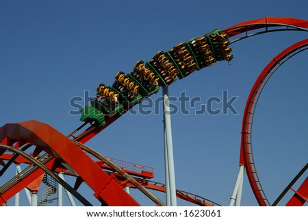 The greatest rollercoaster in Europe - stock photo