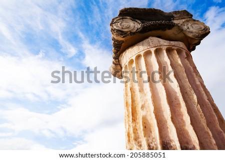 The Greek column - stock photo