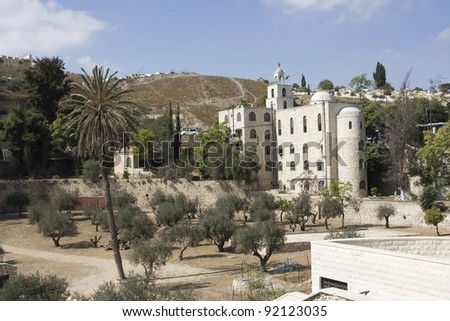 The Greek Orthodox Church Of St. Stephen, Jerusalem, Israel - stock photo