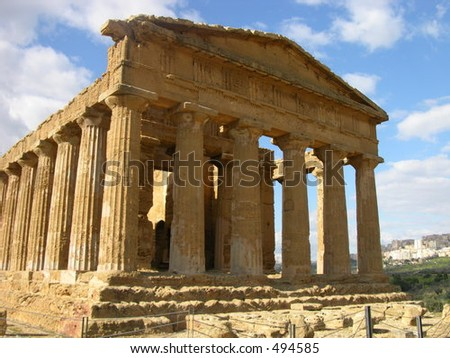 the Greek Temple of Concord, Agrigento, Sicily