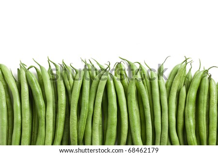 the green bean pods background - stock photo