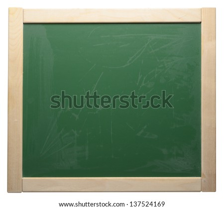 The green blackboard in wooden frame - stock photo