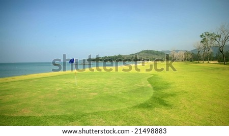 the green of golf club