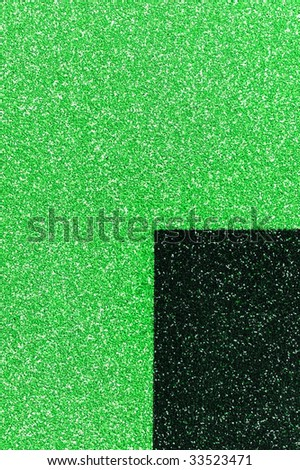The green texture from small  stones with black quarter