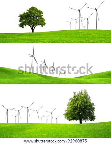 The greening of industry - stock photo