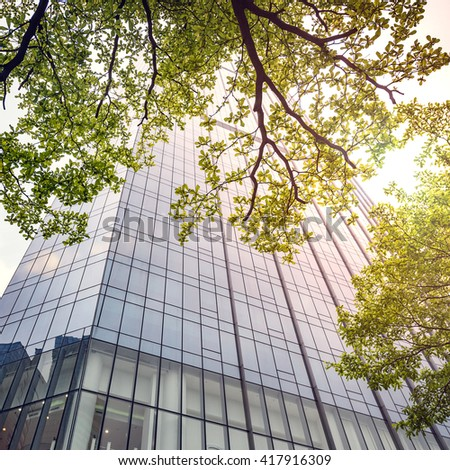 The greening of the office building - stock photo