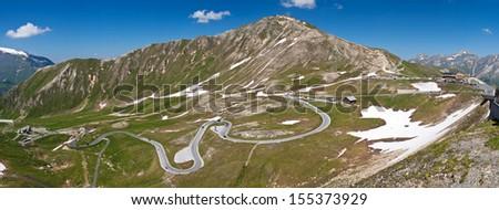 the Grossglocner high alpine road - Austria - stock photo