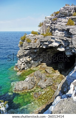 The grotto in early spring - stock photo