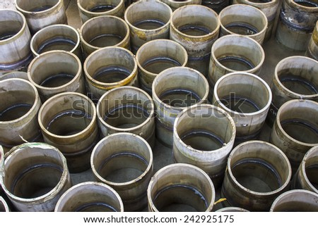 the group of cylinder background - stock photo