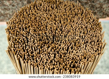 The group of incense stick. the incense sticks for buddhist temple offertory/  close  up the Group of incense stick / close  up The Group Of Incense Stick  (asia, buddhism, sticks) - stock photo