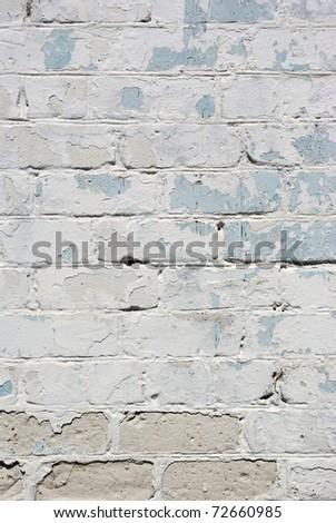 The grunge white brick wall for backgroun - stock photo
