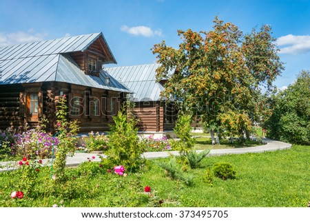 The guest house in Pokrovsky convent in Suzdal, Vladimir region, Russia.