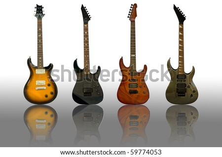 the guitars