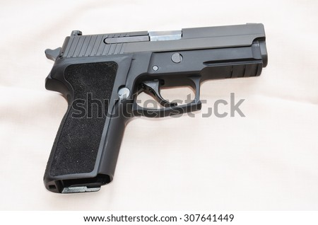 The  gun - stock photo